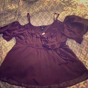 NWT purple flowy blouse